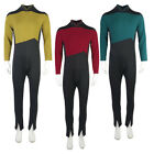 The Next Generation Picard Red Jumpsuit TNG Data Gold Blue  Uniforms Costumes