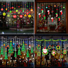 Christmas Window/glass Santa Sticker Decals Mural Home Decoration Wall Stickers