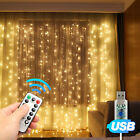 Window Curtain Icicle String Lights with Remote & Timer, 100 LED Fairy Twinkle 8