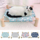 Elevated Dog Bed Washable Breathable No-Slip Raised Pet Cot Cat Hammock & Cover