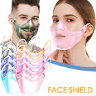 Reusable Plastic Mask Face-Shield Breathable Protective Facial Cover Anti-Splash