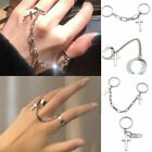 2020 Vintage Cross Chain Ring Adjustable Joint Punk Fashion Finger Ring Jewelry