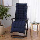 Sun Lounger Cushion Pad Garden In/outdoor Recliner Chair Seat Pads