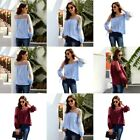 Elegant Pullover Top O Neck Long Sleeve T-Shirt Solid Jumper Casual Fashion