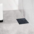 Neodrain Square Shower Drain with Removable Quadrato Pattern Grate, 6-Inch, Brus