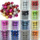 Christmas NEW Glitter Baubles Xmas Hangings Balls Tree Ornaments Decorations DIY