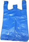 Tezraftaar Jumbo Strong Large Blue Vest Carrier Bags 18Micron 12X18X23 (100)