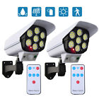 4Packs Solar Dummy Fake Security Camera Outdoor 77LED Wall Light with Rmote