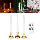 Flameless Window Candles - Battery Operated LED Taper Candles with Remote