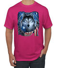 Amrican Flag Patriotic Wolf Dreaming Animals Mens Graphic T-Shirt