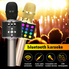 LOSKII Wireless 4 in 1 bluetooth Karaoke Microphone Speaker LED Lights  W@@