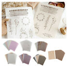 15 / 30pcs Background Paper Handmade for Card Making Writing