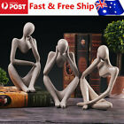 Au European Abstract Thinker Statue Sculpture Figurine Office Home Decor Gifts