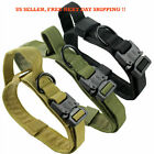 Nylon Tactical Military Dog Collar for K9 Padded Dog Training Collar Heavy Duty