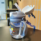 370ML Baby Bottle Double-handle Fall Resistant  Safe Flexible for Newborns
