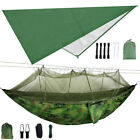 Camping Double Hammock with Mosquito Net Outdoor Garden Hanging Bed Swing