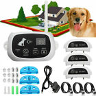 1/2/3 Dogs Wireless Electric Dog Fence Pet Train Shock Training Collars New