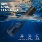 Powerful Diving Flashlight IPX-8 Waterproof Dive Touch Lamp 21700 Battery
