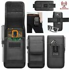 For iPhone 12 11 Pro Max SE Phone Pouch Nylon Holster Case With Clip Card Wallet