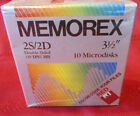 "YOU CHOOSE New Memorex 3.5"" Microdisks 2S/HD 135 TPI/2MB Doublsided 10pk"