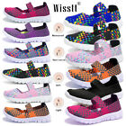 Women Casual Comfort Shoes Breathable Flat Slip On Loafers Sneakers Pump Sandals