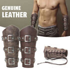 Medieval Cosplay PU Leather Armor Lace-Up Viking Pirate Knight Wristband Bracer
