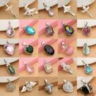 Beauty Colorful Crystal Topaz Pendant Necklace 925 Silver Chain Jewelry Women