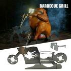 Portable Glasses Chicken Stand Beer American Motorcycle BBQ Stainless Steel Rack