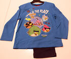 Pyjama Set nightclothes Boys Angry Birds Blue Black Size 104 116 128 140 60