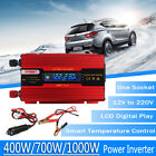 400/700/1000W Solar Power Inverter DC12V to AC220V Converter LCD Digital Display