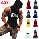 Men Fitness Gym Muscle Bodybuilding Workout Athletic Sleeveless Hoodies Tank Top