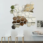 48x 3d Mirror Tiles Wall Stickers Self Adhesive Stick On Art Bedroom Home Decor