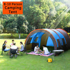 8-10 Person Super Big Camping Tent Waterproof Hiking Family Traveling W/Mat