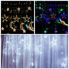 3.5M+Twinkling+Star+Moon+LED+Curtain+Lights+Remote+Control+Fairy+String+Lights