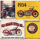Motorcycle Poster Vintage Metal Tin Plate Plaque Retro Garage Wall Decor Signs