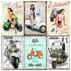 Motorcycle Poster Vintage Plaque Metal Tin Plate Retro Garage Wall Decor Signs
