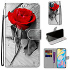 Rose Flower Flip Wallet Phone Case For Samsung S8 S9 S10 S20 S21 Note 20 A51 A30