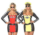 PLUS SIZE Womens REVERSIBLE RACECAR/TAXI DRIVER Costume