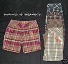 NO BOUNDARIES - WALKING SHORTS – 4 PLAID COLOR CHOICES – SIZES 11 or 13 - NWT