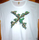 "New White T Shirt "" X FROGS "" Sz SM - 2XL    Ladies Cut"
