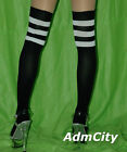 Admcity Athlete Thigh High Stockings with 3 Stripe Top