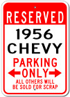 1956 56 CHEVY  Parking Sign