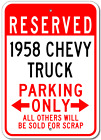 1958 58 CHEVY TRUCK Parking Sign