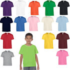6 GILDAN HEAVY COTTON CHILDS T SHIRTS 16 COLS ALL AGES