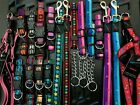 HEM AND BOO, PUPPY / DOG & CO NYLON COLLAR or LEAD or HARNESS -NUTS ABOUT MUTTS