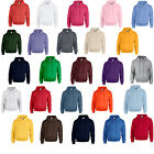 4 GILDAN PULLOVER SWEATSHIRT HOODIE HOODYS - 25 COLOURS! - CHEST SIZES 36-52""