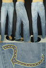 $225 NWT ROCK & REPUBLIC JEANS NEAL RELAXED REVEAL BLUE SZ 28 29 30