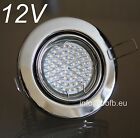 4 x 12V LED Decken-Einbaustrahler Downlight Set Chrom inkl.MR16 3W Lampe + Trafo