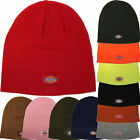 "DICKIES BEANIE HAT 9"" KNIT CAP DOUBLE LAYERED KNIT COLORS HATS W/DICKIES LOGO"