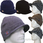 DICKIES BEANIE HAT BILLED KNIT CAP W/CUFF DOUBLE LAYERED KNIT W/DICKIES LOGO